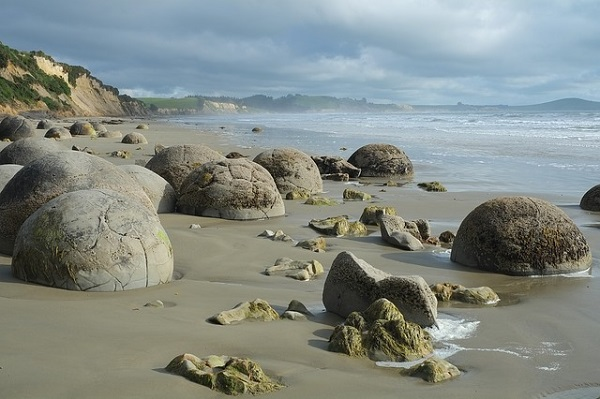 The Moeraki Boulders on Koekohe Beach