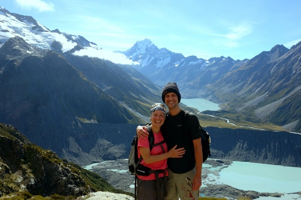 Sealy Tarn Steps summit, Mount Cook National Park