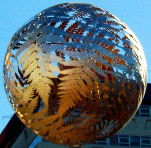 Wellington's Famous Fern Ball Suspended Above Civic Square